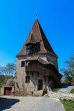 Les cordonniers dominent dans le vacarme Sighisoara de Sighisoara - de Turnul Cizmarilor photographie stock libre de droits