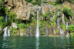 Les Cormorans waterfall on Reunion island Stock Images