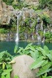 Les Cormorans waterfall on Reunion island, France Stock Photography