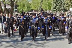 Les Cosaques de l'armée de Cosaque de Terek. Photo stock