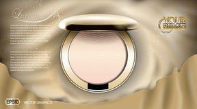 Les cosmétiques de luxe rougissent des annonces illustration stock
