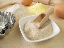 Les cosses, le sarrasin et le maïs moulus de graine de psyllium flour Photographie stock libre de droits