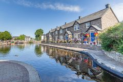 Les cottages dans Brecon balise le parc national Photo stock