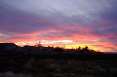 Les couchers du soleil de désert sont le meilleur Images stock