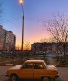 Les couchers du soleil sont différents images libres de droits