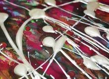 Les couleurs abstraites de peinture, brosse pourpre frotte la peinture d'aquarelle Fond d'abrégé sur peinture d'aquarelle Photographie stock libre de droits