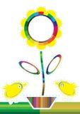 Les couleurs d'échantillons fleurissent Chicken_eps Images stock