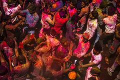 Les couleurs de Holi à Jaipur Photos stock