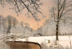 Les couleurs de la neige Photo stock