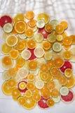 Les couleurs des agrumes Photographie stock