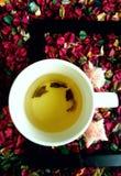 Les couleurs du thé de matin Images stock