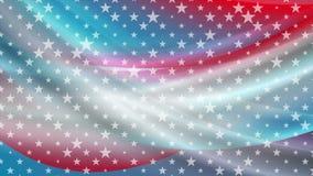 Les couleurs et les étoiles des Etats-Unis soustraient l'animation visuelle lumineuse illustration libre de droits