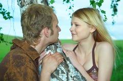 Les couples équipent et femme Photo libre de droits