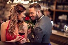 Les couples célèbrent St Valentine Images stock