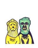 Les couples des chiens drôles images libres de droits