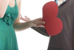 les couples discutent des stands de rapport là où Image stock