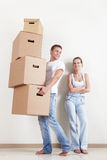 Les couples déménagés Images libres de droits