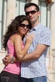 Les couples font la visite touristique à Athènes Photos stock