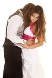 Les couples formels voient son visage Image libre de droits