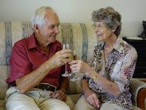 Les couples heureux Images libres de droits