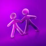 Les couples illustrés par jour heureux II de Valentine Images libres de droits