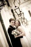 Les couples neuf-mariés images libres de droits
