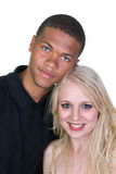 les couples noirs aiment le femme blanc d'homme Images stock
