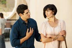 Les couples ont un désaccord images stock