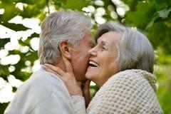 Les couples ont une promenade Image libre de droits