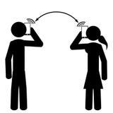 Les couples parlent au téléphone Images libres de droits