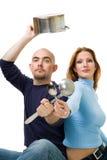Les couples partagent la cuisson Photographie stock