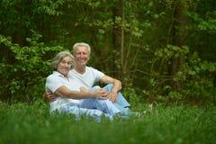 Les couples pluss âgé se reposent Photos stock