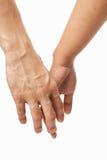 Les couples remettent l'essai de se retenir main Photo stock