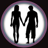 Les couples romantiques aiment le tunnel Photographie stock