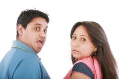 Les couples se font attraper. Quelles étaient-elles jusqu'à ? image libre de droits
