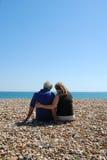 Les couples seul se sont reposés ensemble Image libre de droits