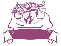 Les couples sous la couverture Images libres de droits