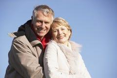 les couples stationnent la marche aînée Photographie stock