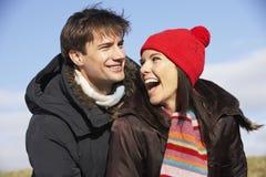 les couples stationnent le fonctionnement Image libre de droits