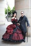 Les couples traditionnels à Ondulent-Gotik-Treffen Photo libre de droits
