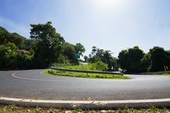 Les courbes de route Image stock