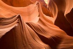 Les courbes en canyon inférieur d'antilope, page, Arizona Photos libres de droits