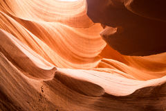 Les courbes en canyon inférieur d'antilope, page, Arizona Image stock