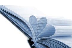 les courbes ont isolé des feuilles de bloc-notes blanches Photos stock