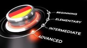 Les cours allemands nivellent illustration de vecteur