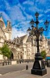 Les Cours de Justice royales, Londres image libre de droits