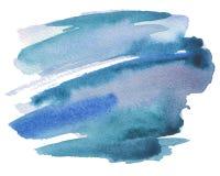 Les courses abstraites de brosse d'aquarelle ont peint le fond PA de texture Images libres de droits
