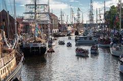Les courses grandes 2017 de bateaux Photographie stock