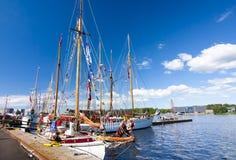 LES COURSES GRANDES KOTKA 2017 DE BATEAUX Kotka, Finlande 16 07 2017 Photo libre de droits