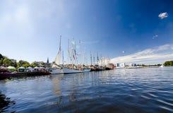 LES COURSES GRANDES KOTKA 2017 DE BATEAUX Kotka, Finlande 16 07 2017 Images libres de droits